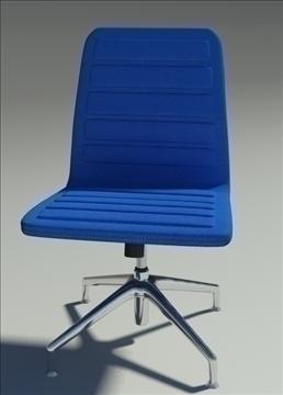 lotus low simple blue fabric armchair 3d model max dxf fbx obj 92460