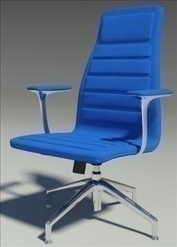 lotus orta blu kumaş koltuk 3d model max dxf fbx obj 92320