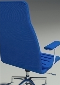 lotus medium blu fabric armchair 3d model max dxf fbx obj 92322