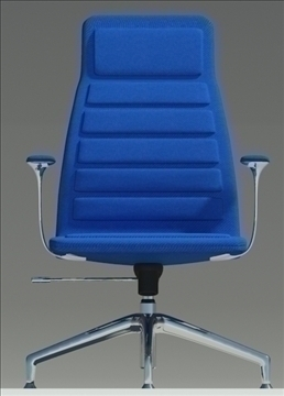 lotus medium blu fabric armchair 3d model max dxf fbx obj 92323