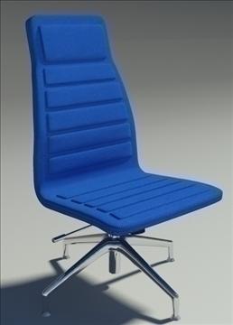 lotus medium simple blu fabric armchair 3d model max dxf fbx obj 92362