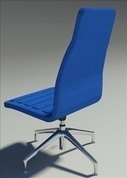 lotus medium simple blu fabric armchair 3d model max dxf fbx obj 92364