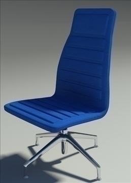 lotus medium simple blu fabric armchair 3d model max dxf fbx obj 92365