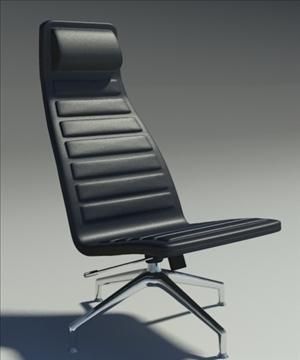 lotus simple black leather armchair 3d model 3ds max fbx obj 92343