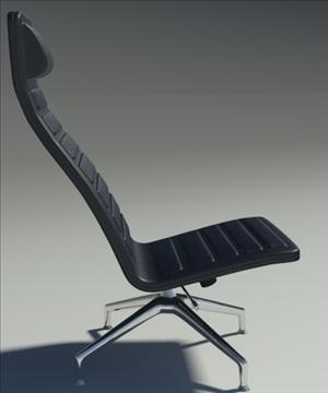 lotus simple black leather armchair 3d model 3ds max fbx obj 92344