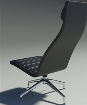 lotus simple black leather armchair 3d model 3ds max fbx obj 92345