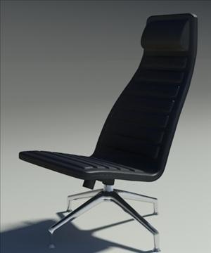 lotus simple black leather armchair 3d model 3ds max fbx obj 92346