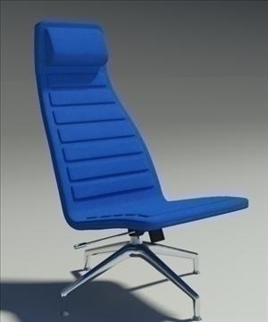 lotus simple blue leather armchair 3d model 3ds max fbx obj 92347