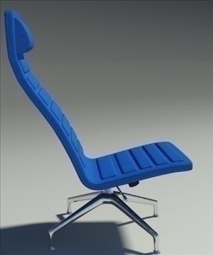 lotus simple blue leather armchair 3d model 3ds max fbx obj 92348