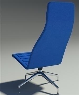 lotus simple blue leather armchair 3d model 3ds max fbx obj 92349