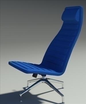 lotus simple blue leather armchair 3d model 3ds max fbx obj 92350