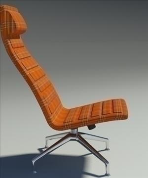 lotus simple orange fabric armchair 3d model 3ds max fbx obj 92352