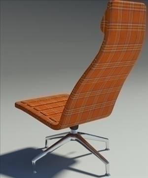 lotus simple orange fabric armchair 3d model 3ds max fbx obj 92353