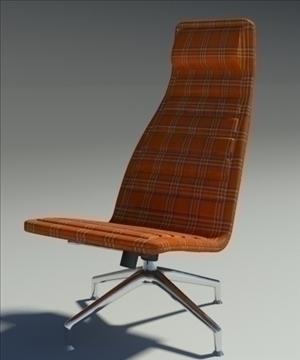 lotus simple orange fabric armchair 3d model 3ds max fbx obj 92354