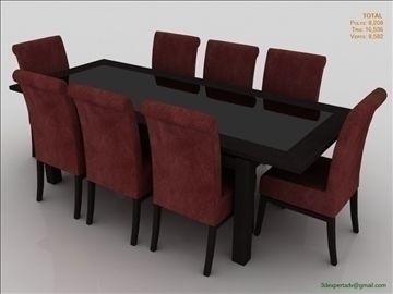 low poly table 3d model 3ds max fbx obj 106471