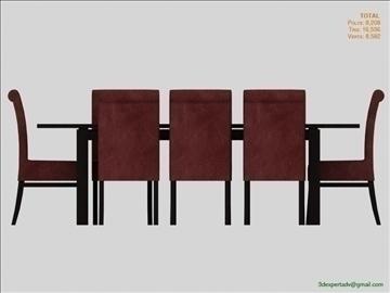 low poly table 3d model 3ds max fbx obj 106472
