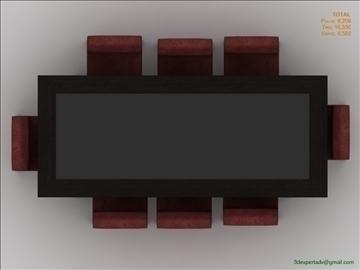 low poly table 3d model 3ds max fbx obj 106473