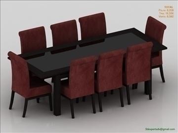 low poly table 3d model 3ds max fbx obj 106474