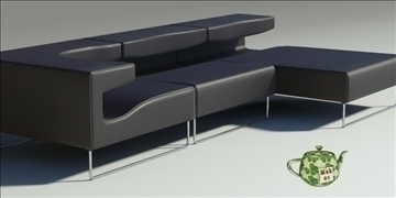 lowseat leather composition 3d model 3ds max fbx obj 91548