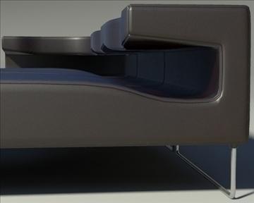 lowseat leather composition 3d model 3ds max fbx obj 91550