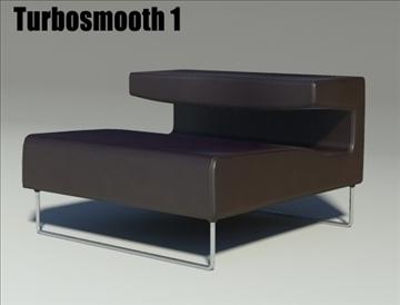 lowseat leather composition 3d model 3ds max fbx obj 91551