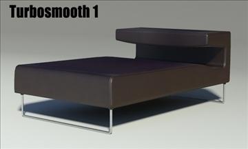 lowseat leather composition 3d model 3ds max fbx obj 91553