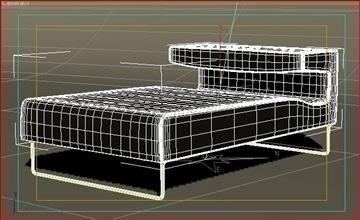 lowseat leather composition 3d model 3ds max fbx obj 91554