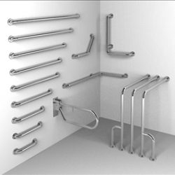 LR014A00 Handicap Rail System 3D Model ( 45.75KB jpg by edawkins )