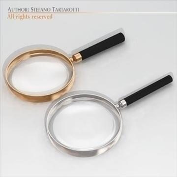 magnifying glass 3d model 3ds dxf c4d obj 105205