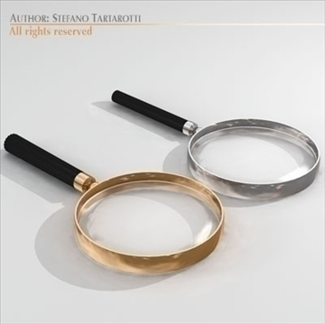 magnifying glass 3d model 3ds dxf c4d obj 105206