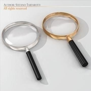 magnifying glass 3d model 3ds dxf c4d obj 105208