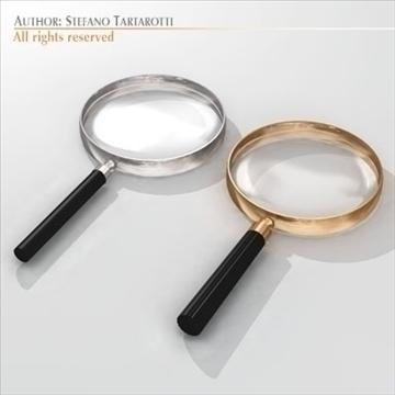 magnifying glass 3d model 3ds dxf c4d obj 105209