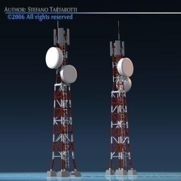 ffôn mast model 3d 3ds dxf obj 77771