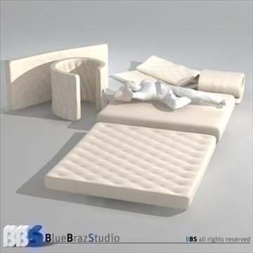 mattresses 3d model 3ds dxf c4d obj 107048