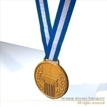 medal 3d model 3ds dxf c4d obj 95937