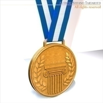 medal 3d model 3ds dxf c4d obj 95938