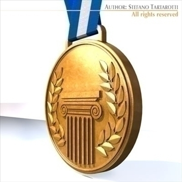 medal 3d model 3ds dxf c4d obj 95941
