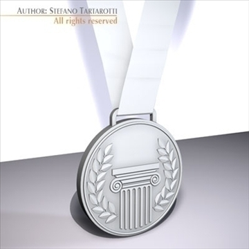 medal 3d model 3ds dxf c4d obj 95943