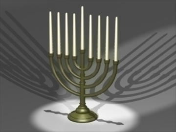 menorah 3d model 3ds dxf lwo 81006