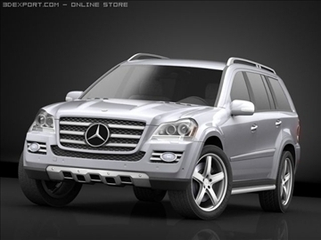 mercedes gl 420 bluetec 3d model max 106431