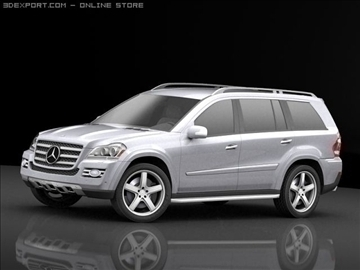 mercedes gl 420 bluetec 3d model max 106432