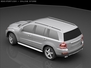 mercedes gl 420 bluetec 3d model max 106434