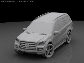 mercedes gl 420 bluetec 3d model max 106436