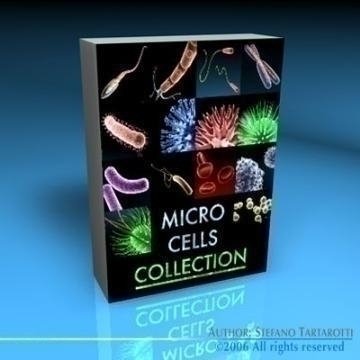 micro cells models collection 3d model c4d 3ds obj 78128