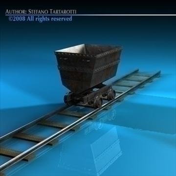 mine cart 3d model 3ds dxf c4d obj 88704