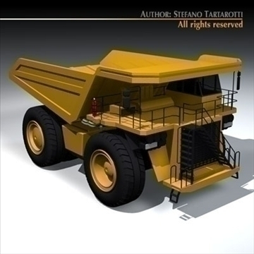 mine dumper truck 3d model 3ds dxf c4d obj 94547