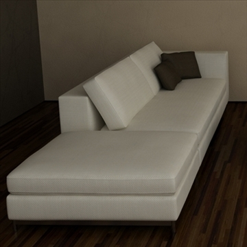 minotti albers collection 3d model 3ds max texture 110857