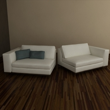minotti albers collection 3d model 3ds max texture 110860