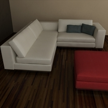 minotti albers collection 3d model 3ds max texture 110861