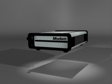 modem 2 3d model 3ds dxf lwo 81118